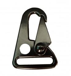 Mtac - Klamra typu Snap Hook - Czarny