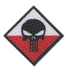Combat-ID - Naszywka Punisher - PL - Gen I - H4