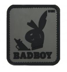 101 Inc. - Naszywka BADBOY - 3D PVC - Szary