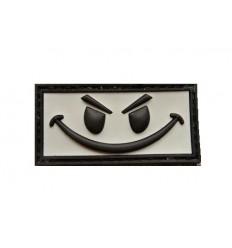 101 Inc. - Naszywka Evil Smiley - 3D PVC - Szary