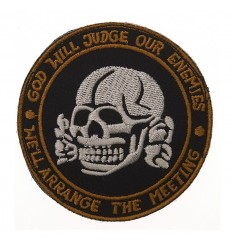 Patch - Naszywka God Will Judge Our Enemies SKULL