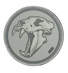 101 Inc. - Naszywka Sabertooth Tiger - 3D PVC - Szary