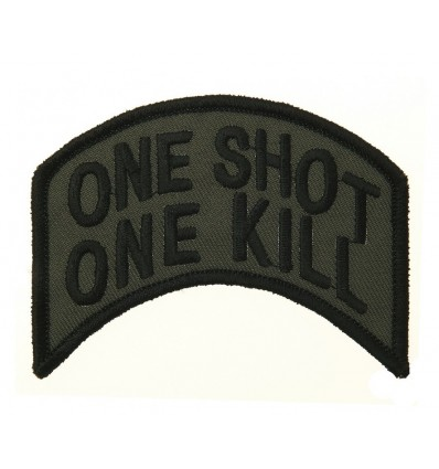 Patch - Naszywka One Shot One Kill - Zielony OD