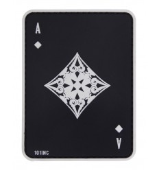 101 Inc. - Naszywa Ace of Diamonds - 3D PVC - Czarny