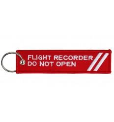 Brelok / Zawieszka do kluczy - Flight Recorder Do Not Open - Czerwony