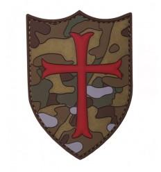 101 Inc. - Naszywka Crusader / Krzyżowiec - 3D PVC - MultiCam