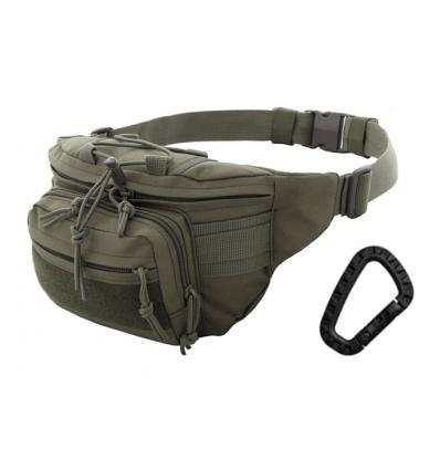 CAMO - Nerka / Torba na pas - Kangoo Waist Pack 3L - Zielony OD - TO-KG-WP-OG