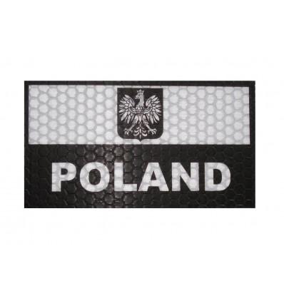 Combat-ID - Naszywka Polska  Biały - Gen I A1