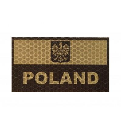 Combat-ID - Naszywka Polska  - Coyote Tan - Gen I