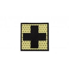 Combat-ID - Naszywka Krzyż - Piaskowy - Gen I - F1