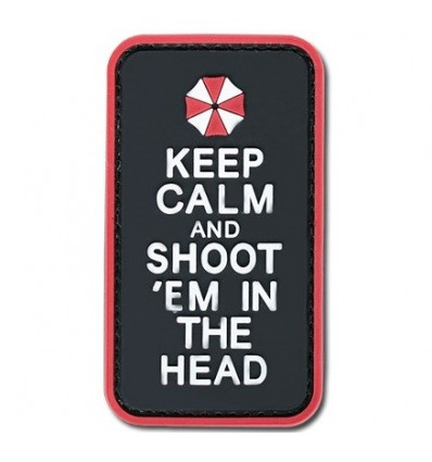 4TAC - Naszywka 3D - Keep Calm and Shoot'em in the Head - Color