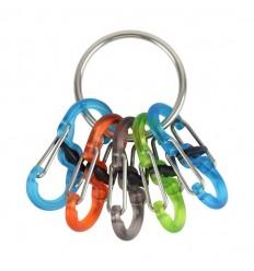 Nite Ize - Brelok do kluczy - S-Biner KeyRing Locker - Stalowy - KRGP-11-R3