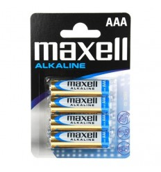 Maxell - Bateria alkaliczna AAA R3 1,5V - Zestaw 4 sztuk