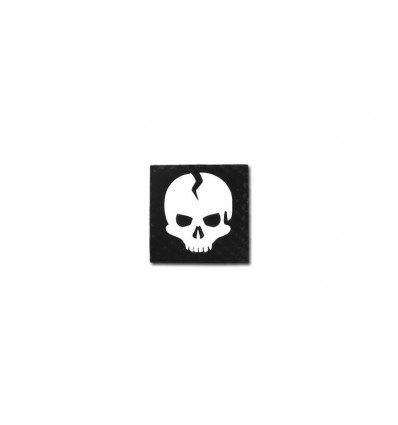 Combat-ID - Naszywka SQR Skull - Czarny - Gen III