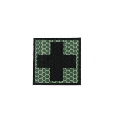 Combat-ID - Naszywka Krzyż - Zielony - Gen I - F2
