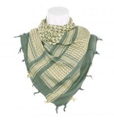 101 Inc. - Arafatka PLO Scarf 100% Cotton - Zielony / Piaskowy