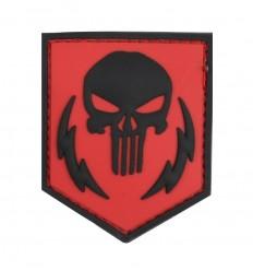 101 Inc. - Naszywka Punisher Thunder Strokes - 3D PVC - Czerwony