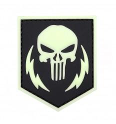 101 Inc. - Naszywka Punisher Thunder Strokes - 3D PVC - Glow / Świecąca