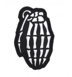 101 Inc. - Naszywka Skull Grenade - 3D PVC - SWAT