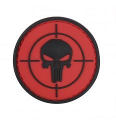 101 Inc. - Naszywka Punisher sight - 3D PVC - Czerwony