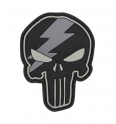 101 Inc. - Naszywka Punisher Thunder - 3D PVC - Szary