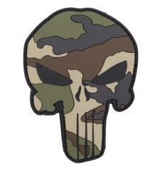 101 Inc. - Naszywka Punisher - 3D PVC - Woodland Camo