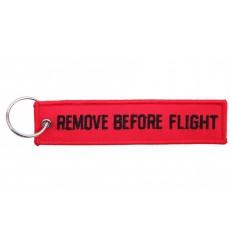 Brelok / Zawieszka REMOVE BEFORE FLIGHT - Czerwony / Czarny