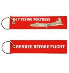 Brelok / Zawieszka do kluczy - REMOVE BEFORE FLIGHT - B-17 FLYING FORTRESS - Czerwony