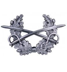Odznaka na czapkę - Skrzyżowane szable z wieńcem Bundeswehra - Srebrny