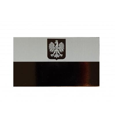 KAMPFHUND - Naszywka Polska Herb - Duża - Szary/Czarny - Gen II IR