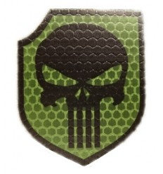 Combat-ID - Naszywka Punisher - Act of Valor Navy Seals Gen I - Olive