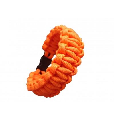 MALAMUT - Bransoletka surwiwalowa VIPER - 3m linki - Paracord 550 USA - Neon Orange