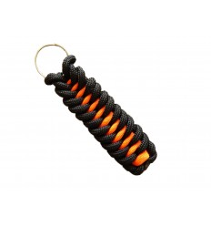 MALAMUT - Brelok surwiwalowy do kluczy IGUANA - Paracord 1,4m+0,5 (USA) - Black / Orange