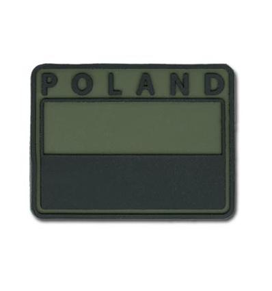 Helikon - Naszywka PVC - Flaga Polska - POLAND - Zielony OD