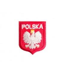 MALAMUT - Naszywka Godło Polski z napisem - Orzeł Biały w Koronie - Mała