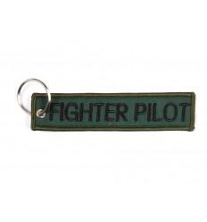 Brelok / Zawieszka do kluczy - FIGHTER PILOT - Zielony
