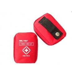 Mil-Tec - Apteczka z wyposażeniem - First Aid Kit - Mała - Etui na pas - Czerwona - 16025810