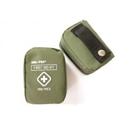 Mil-Tec - Apteczka z wyposażeniem - First Aid Kit - Mała - Etui na pas - Zielony - 16025800