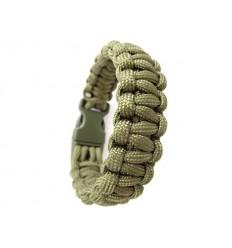 Mil-Tec - Bransoletka surwiwalowa - Paracord - Klamra 22mm - Zielony Oliv - 16370201