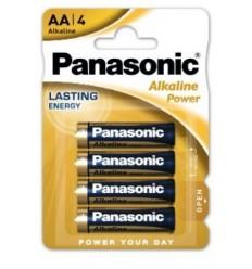 Panasonic - Bateria alkaliczna Alkaline Power  AA R6 - 1,5V - Zestaw 4 sztuk