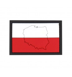 101 Inc. - Naszywka POLSKA / Poland with contour - 3D PVC
