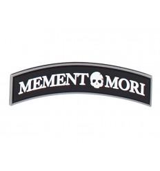 101 Inc. - Naszywka MEMENTO MORI - 3D PVC - Czarny