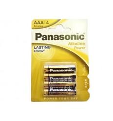 Panasonic - Bateria alkaliczna Alkaline Power  AAA R3 - 1,5V - Zestaw 4 sztuk
