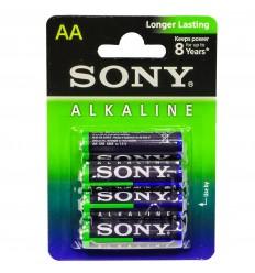 SONY - Bateria alkaliczna Alcaline Longer Lasting AA R6 - 15,V - Zestaw 4 sztuk