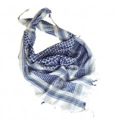 Mil-Tec - Arafatka / Chusta SHEMAGH - Biały / Niebieski - 12617000