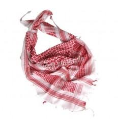 Mil-Tec - Arafatka / Chusta SHEMAGH - Biały / Czerwony - 12614000