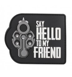 101 Inc. - Naszywka SAY HELLO TO MY FRIEND - 3D PVC - SWAT