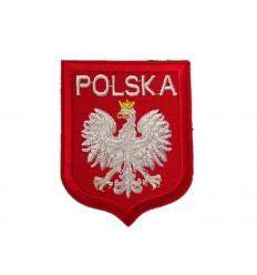 MALAMUT - Naszywka Godło Polski - Orzeł Biały w Koronie /g2