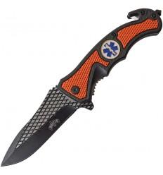 MASTER USA - Nóż składany / ratowniczy paramedyka - Spring Assited Knife - MU-A069OR