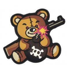 101 Inc. - Naszywka Terror Teddy - 3D PVC - Brązowy